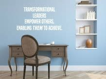 """Wall Quote """"Empower Others..."""" Motivational Sticker Leader Decal Decor Transfer"""
